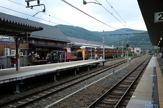 嵐山・トロッコ列車.JPG